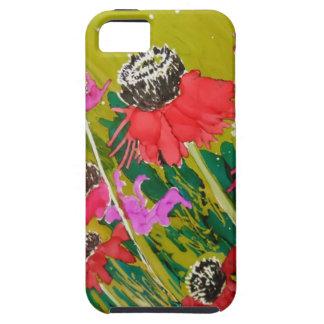 Flores rosadas del cono que se sacuden en la brisa iPhone 5 carcasa