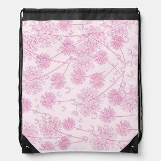 Flores rosadas del diente de león mochilas
