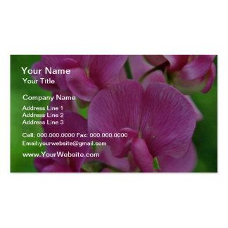 Flores rosadas del guisante de olor tarjetas de visita