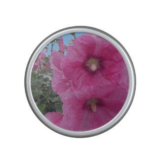 Flores rosadas del hibisco altavoz con bluetooth