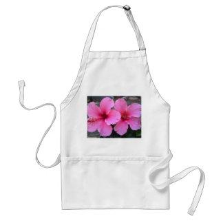 Flores rosadas del hibisco delantal