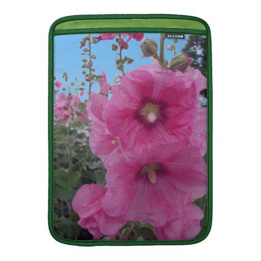 Flores rosadas del hibisco funda  MacBook