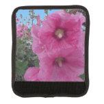 Flores rosadas del hibisco funda para asa de maleta