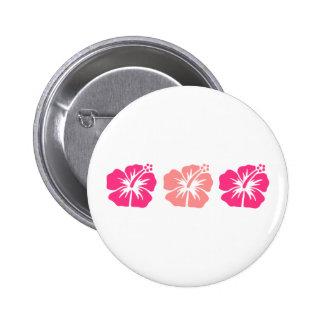 Flores rosadas del hibisco pin redondo 5 cm