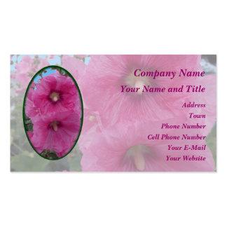Flores rosadas del hibisco tarjeta personal