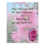Flores rosadas del hibisco tarjetas informativas