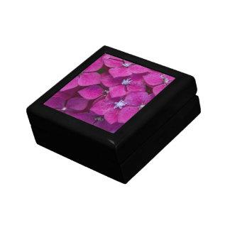 Flores rosadas del Hydrangea Cajas De Joyas