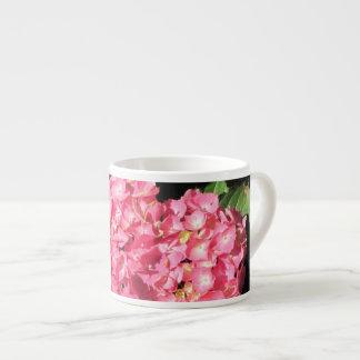 Flores rosadas del Hydrangea Taza Espresso