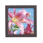 Flores rosadas del lirio de los joyeros de la caja cajas de regalo de calidad