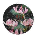 Flores rosadas del lirio de Martagon Tablero Dardos