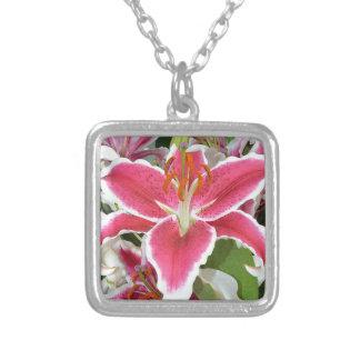 Flores rosadas del lirio del stargazer colgante personalizado