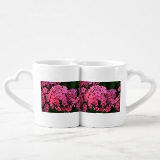 Flores rosadas del Phlox Taza Para Parejas