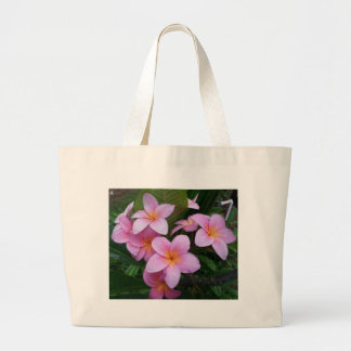 Flores rosadas del Plumeria de Hawaii Bolsa