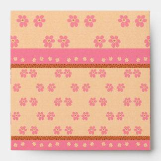 Flores rosadas del sobre