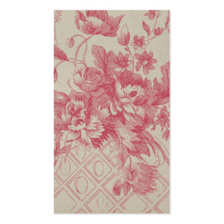 Flores rosadas del vintage tarjetas de visita