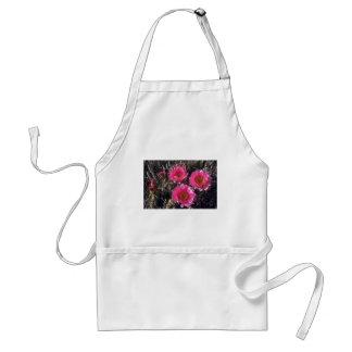 Flores rosadas delantal