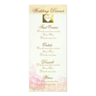 Flores rosadas elegantes del menú el | Ecru del Comunicados Personales