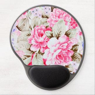 Flores rosadas elegantes del vintage florales alfombrilla gel