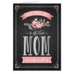Flores rosadas en tarjeta del día de madre de la p