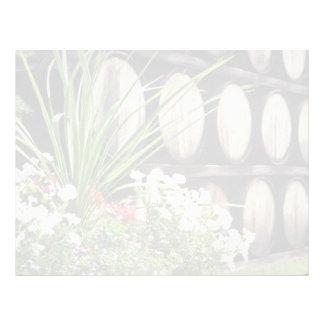 Flores rosadas fortificadas de los vinos membretes personalizados