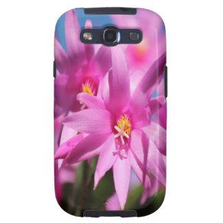 Flores rosadas galaxy s3 protectores