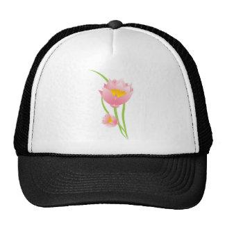 Flores rosadas gorras de camionero
