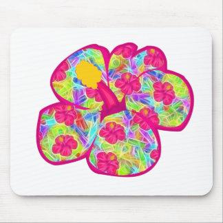 Flores rosadas hawaianas alfombrilla de raton