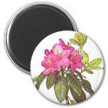 Flores rosadas hermosas imán de nevera