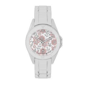 Flores rosadas hermosas relojes de mano