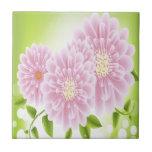 Flores rosadas hermosas teja  ceramica