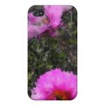 Flores rosadas iPhone 4 funda