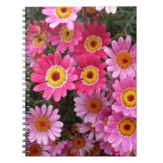 Flores rosadas libreta