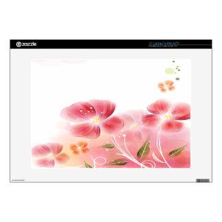 Flores rosadas lindas portátil 38,1cm skins
