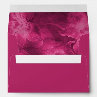 Flores rosadas magentas de la acuarela sobre