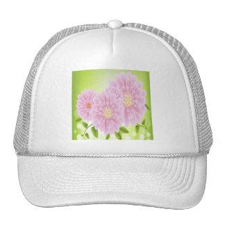 Flores rosadas magníficas gorras de camionero