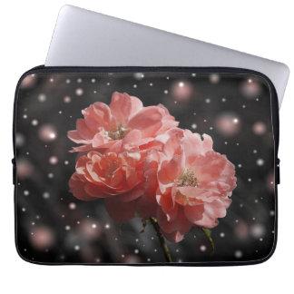Flores rosadas mangas portátiles