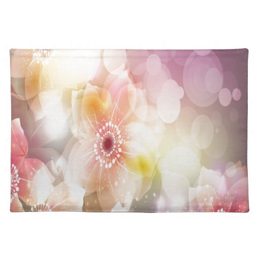 Flores rosadas manteles