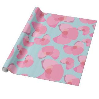 Flores rosadas papel de regalo