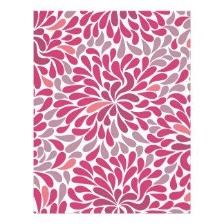 flores rosadas plantillas de membrete