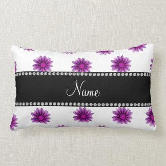 Flores rosadas púrpuras blancas conocidas cojín