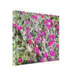 Flores rosadas púrpuras impresion en lona