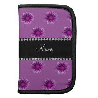 Flores rosadas púrpuras personalizadas de la lila  planificadores
