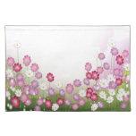 Flores rosadas, púrpuras y blancas manteles