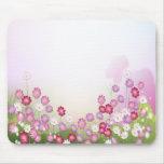 Flores rosadas, púrpuras y blancas alfombrillas de ratón