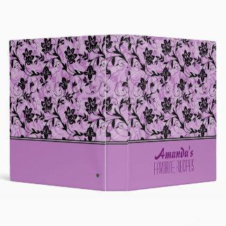 """Flores rosadas, púrpuras y negras carpeta 1"""""""