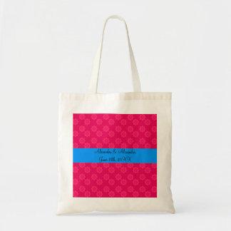 Flores rosadas que casan favores bolsa