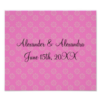 Flores rosadas que casan favores póster