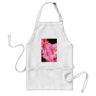 Flores rosadas rizadas rosa delantal