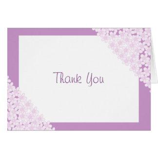 Flores rosadas tarjeta pequeña