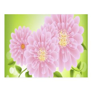 Flores rosadas postal